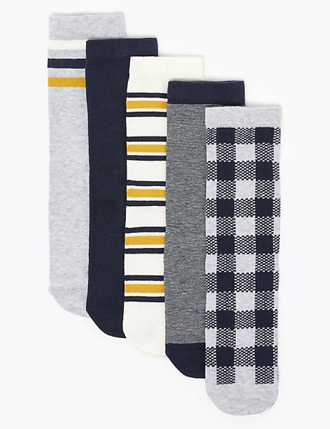 5 Pack of Cotton Rich Socks