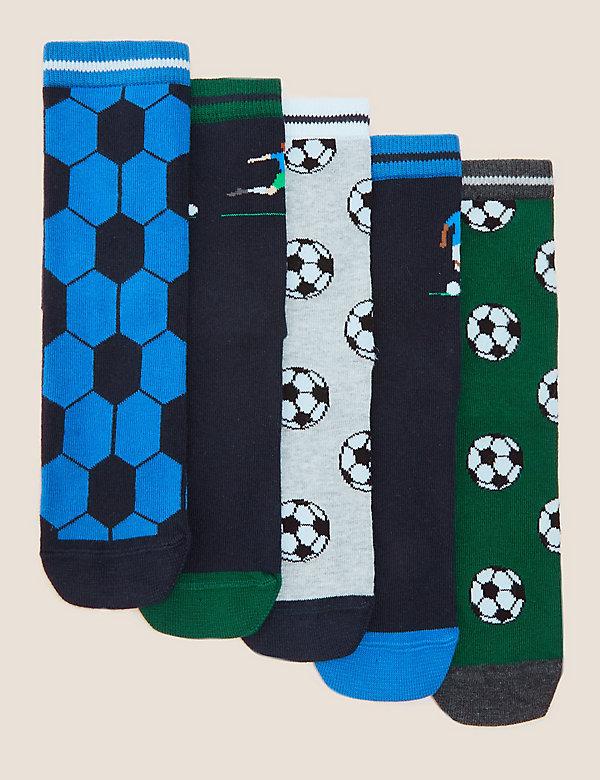 5pk Cotton Football Socks