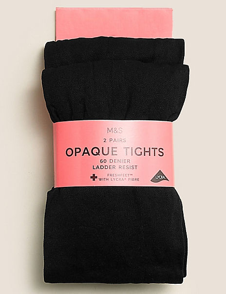 2 Pairs of 60 Denier Tights (6-14 Years)