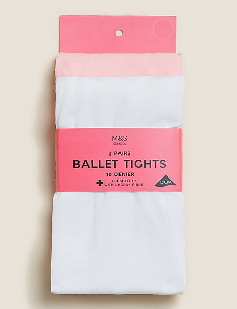 2 Pack Ballet Opaque Tights (2-12 Years)