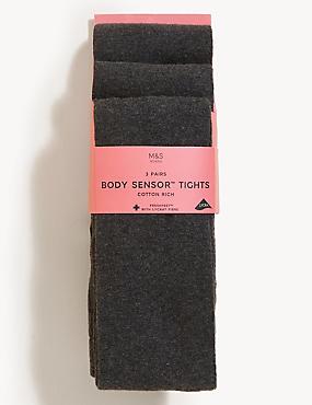 3 Pairs of Body Sensor™ School Tights (4-14 Years)