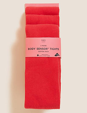 3 Pairs of Body Sensor™ School Tights (3-14 Years)