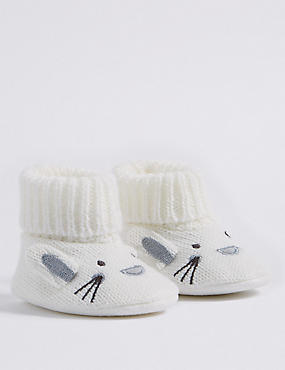 Bunny Booties (0-24 Months)