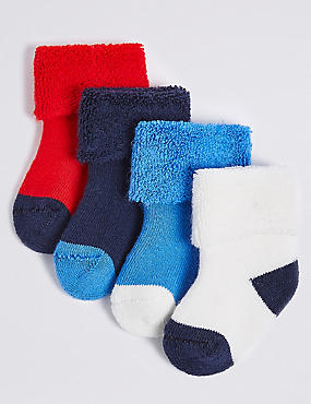 4 Pairs of Socks with Staysoft™ (0-12 Years)