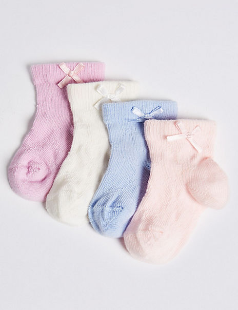 4 Pairs of Filet Baby Socks