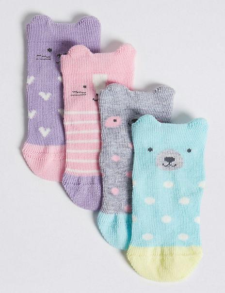 4 Pairs of Novelty Baby Socks