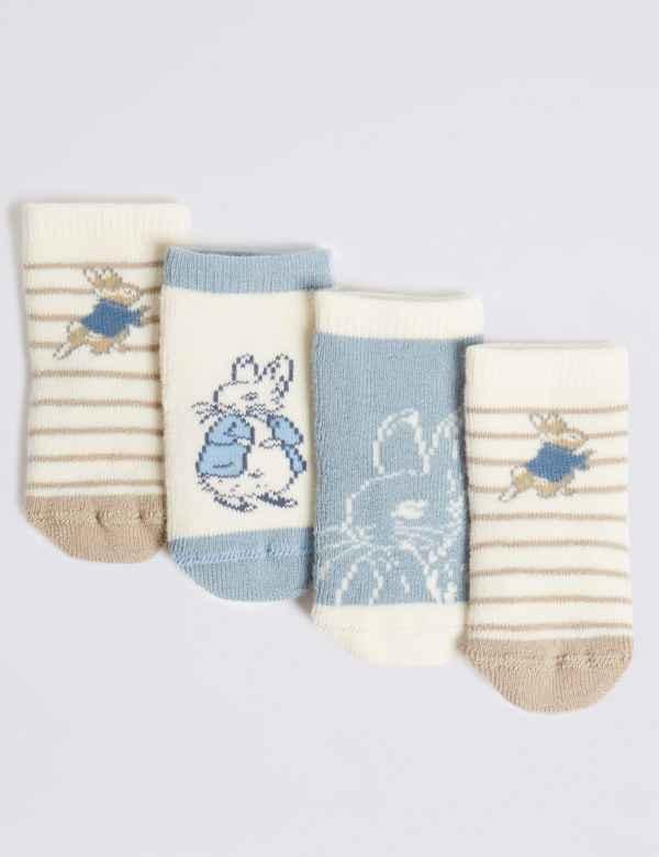 b1d696c0d 4 Pairs of Peter Rabbit™ Baby Socks