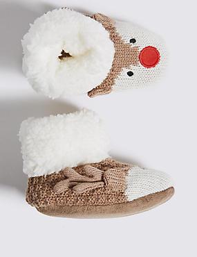 Reindeer Booties (0-24 Months)