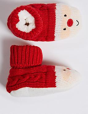 Santa Booties (0-24 Months)