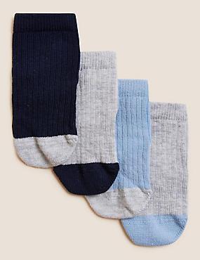 4pk of Baby Socks (0-24 Mths)