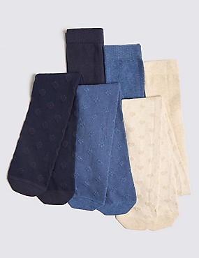 3 Pairs of Denim Tights (11 Months - 10 Years)