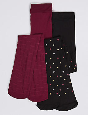 2 Pairs of Opaque Tights (4-14 Years)