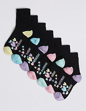 7 Pairs of Cotton Rich Socks (3-14 Years)