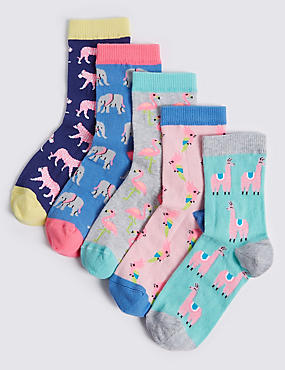 5 Pairs of Cotton Rich Socks (1-14 Years)