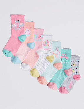 7 Pairs of Days of the Week Socks (1-6 Years)