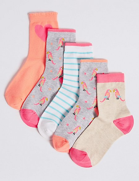 5 Pairs of Ankle Socks (1-14 Years)