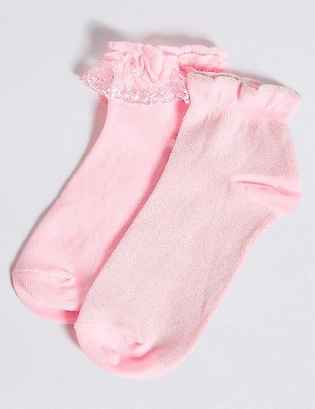 2 Pairs of Frill Socks (1-14 Years)