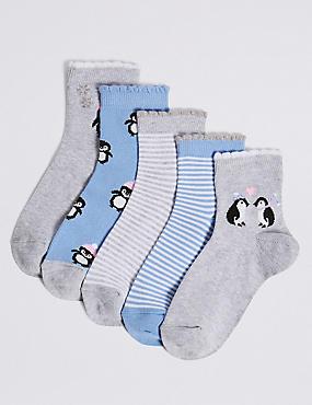 5 Pairs of Penguin Socks (1-14 Years)