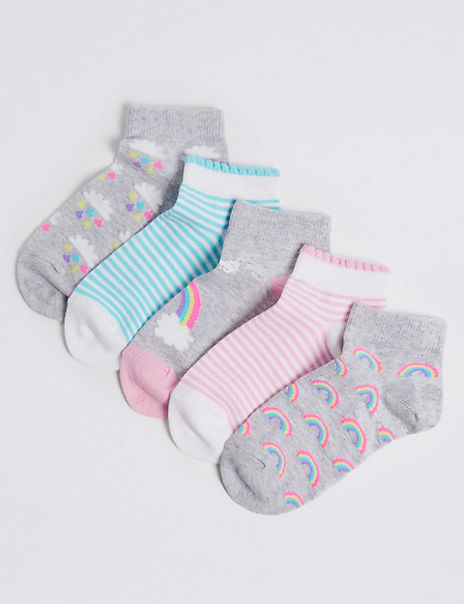 5 Pairs of Trainer Liner Socks