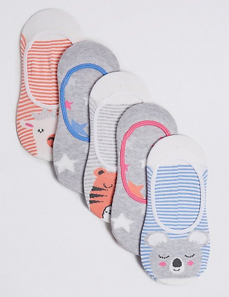 5 Pairs of Trainer Liner Socks with Freshfeet™