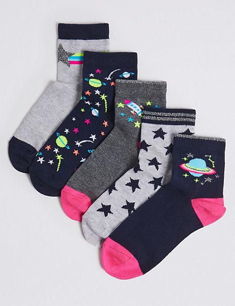 5 Pairs of Space Socks