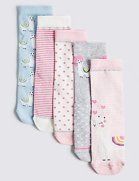 5 Pairs of Llama Socks (12 Months - 14 Years)