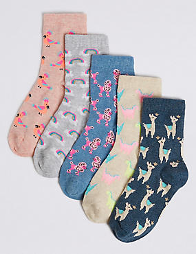 5 Pairs of Animal Socks (1-14 Years)