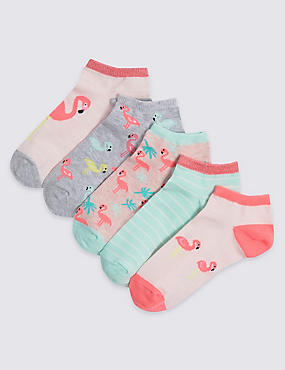 5 Pairs of Trainer Liners Socks (3-14 Years)