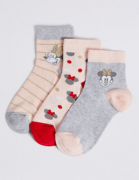 3 Pairs of Minnie Mouse™ Socks