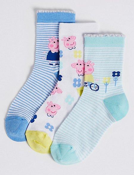 3 Pairs of Peppa Pig™ Socks