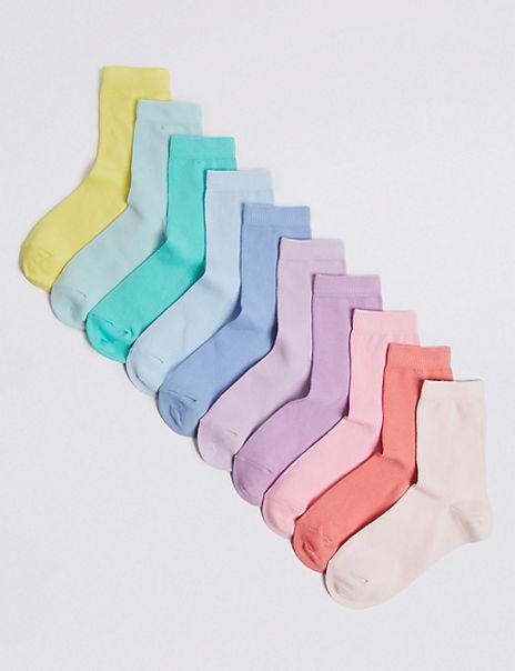 10 Pairs of Pastel Socks