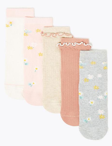 5 Pack of Floral Socks