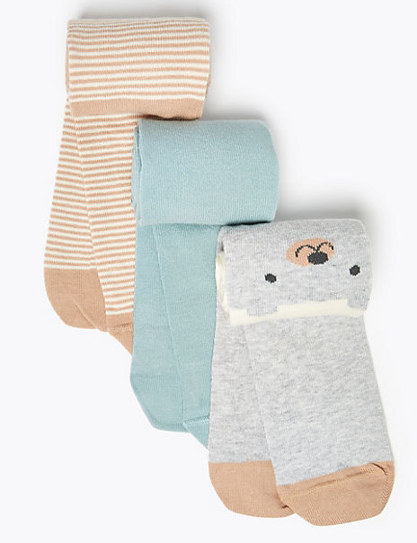 3 Pack Bear Tights (0 Month - 24 Months)