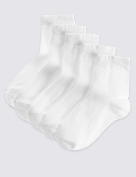 5 Pairs of Sparkle Stripe Socks (2-14 Years)