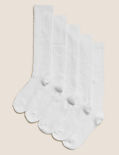 5 Pairs of Knee High Pelerine Socks