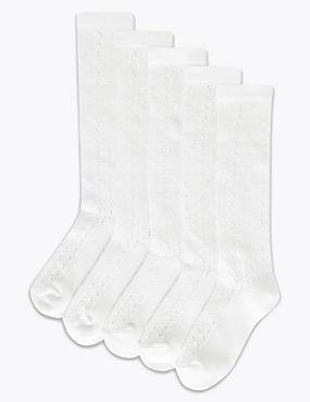 5 Pairs of Knee High Pelerine Socks (3-14 Years)