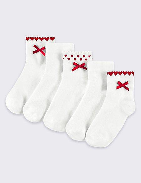 5 Pairs of Freshfeet™ Cotton Rich Socks (2-14 Years)