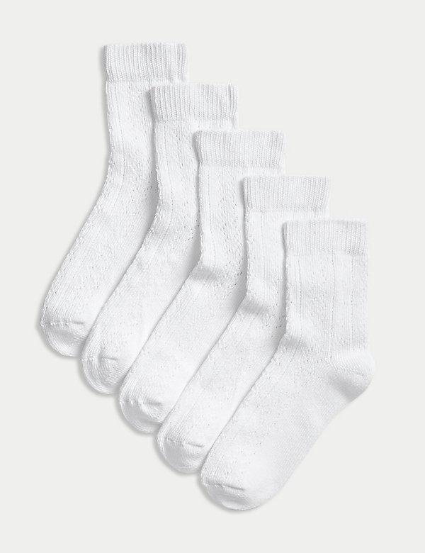 Lot de 5paires de chaussettes à motif en point de pèlerine