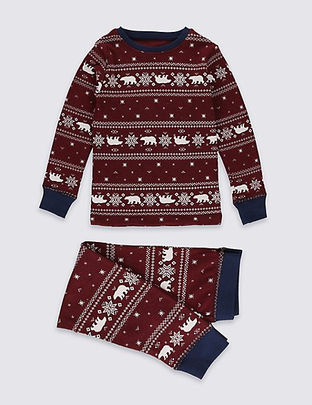 Fairisle Print Thermal Set (3-16 Years)