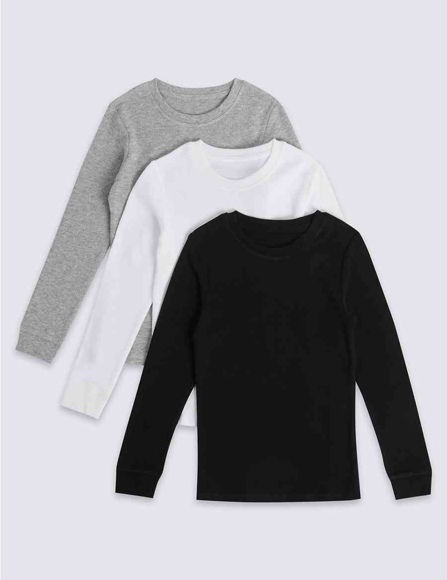 7da1489e251 3 Pack Cotton Blend Thermal Vests (18 Months - 16 Years)