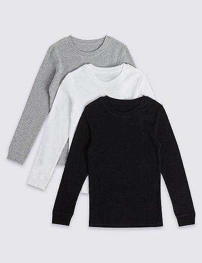 Pack de 3 camisetas sin mangas térmicas con algodón (18 meses-16 años)  988277c6a5b
