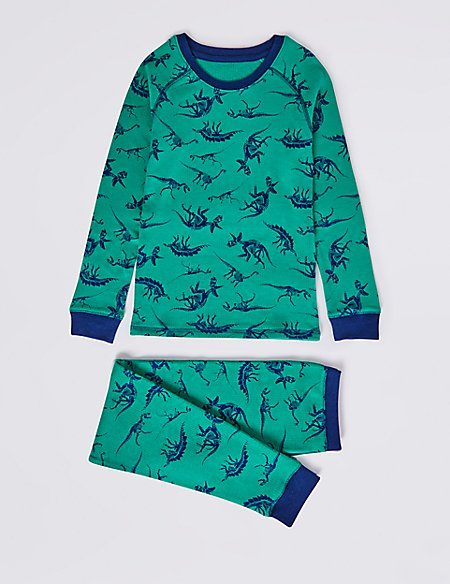 Cotton Blend All Over Print Thermal Set (18 Months - 16 Years)