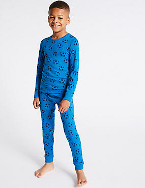 Football Print Thermal Set (18 Months - 16 Years)