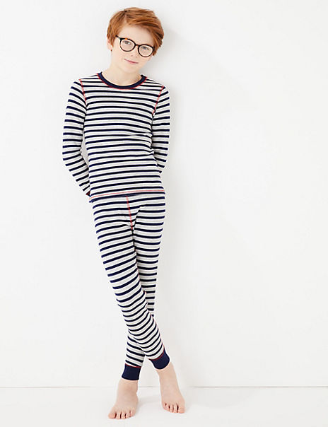 Stripe Print Thermal Set (18 Months - 16 Years)