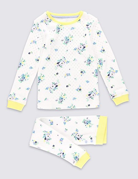 Floral Pointelle Thermal Set (3-16 Years)