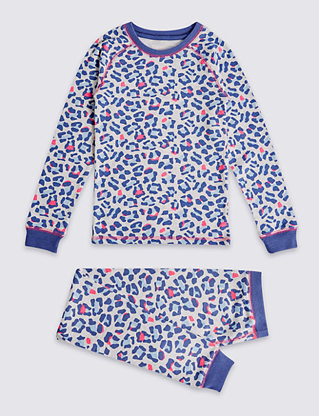 Cotton Blend Leopard Print Thermal Set (18 Months - 16 Years)