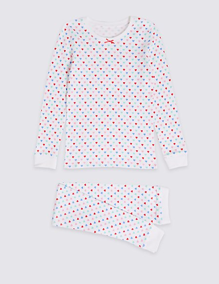 Heart Print Thermal Set (18 Months - 16 Years)