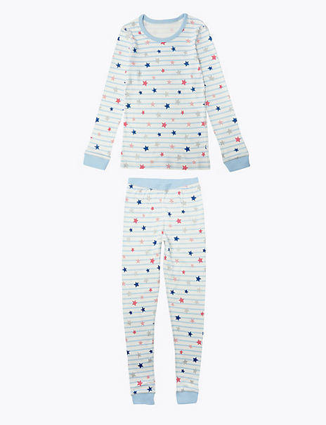 Striped Star Print Thermal Pyjama Set (18 Months - 16 Years)