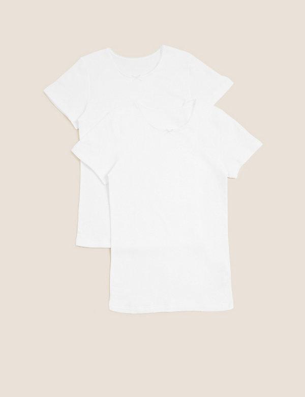 2pk Thermal Cotton Vests (2-16 Yrs)