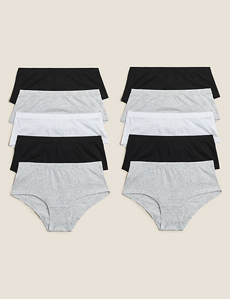 10 Pack Cotton Shorts (2-16 Years)